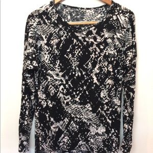 Apt 9 Black Speckled Long Sleeve Knit top large